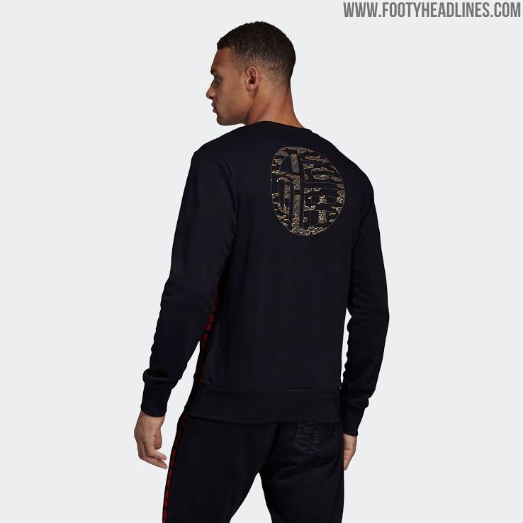 Adidas Manchester United Chinese New Year Collection Released Long Sleeve Tshirt Men
