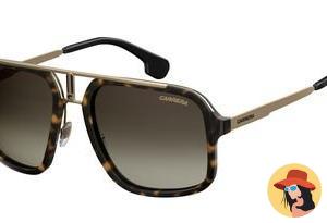 Carrera Men's Ca1004s Aviator Sunglasses, Havana Gold/Brown Gradient, 57 mm