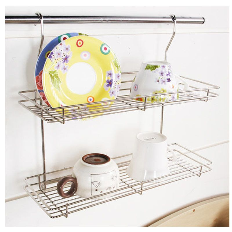 Kitchen Organizer Racks Stainless hook 2 floor dish rack cup storage shelf sink kitchen stainless hook 2 floor dish rack cup storage shelf sink kitchen organizer new workwithnaturefo