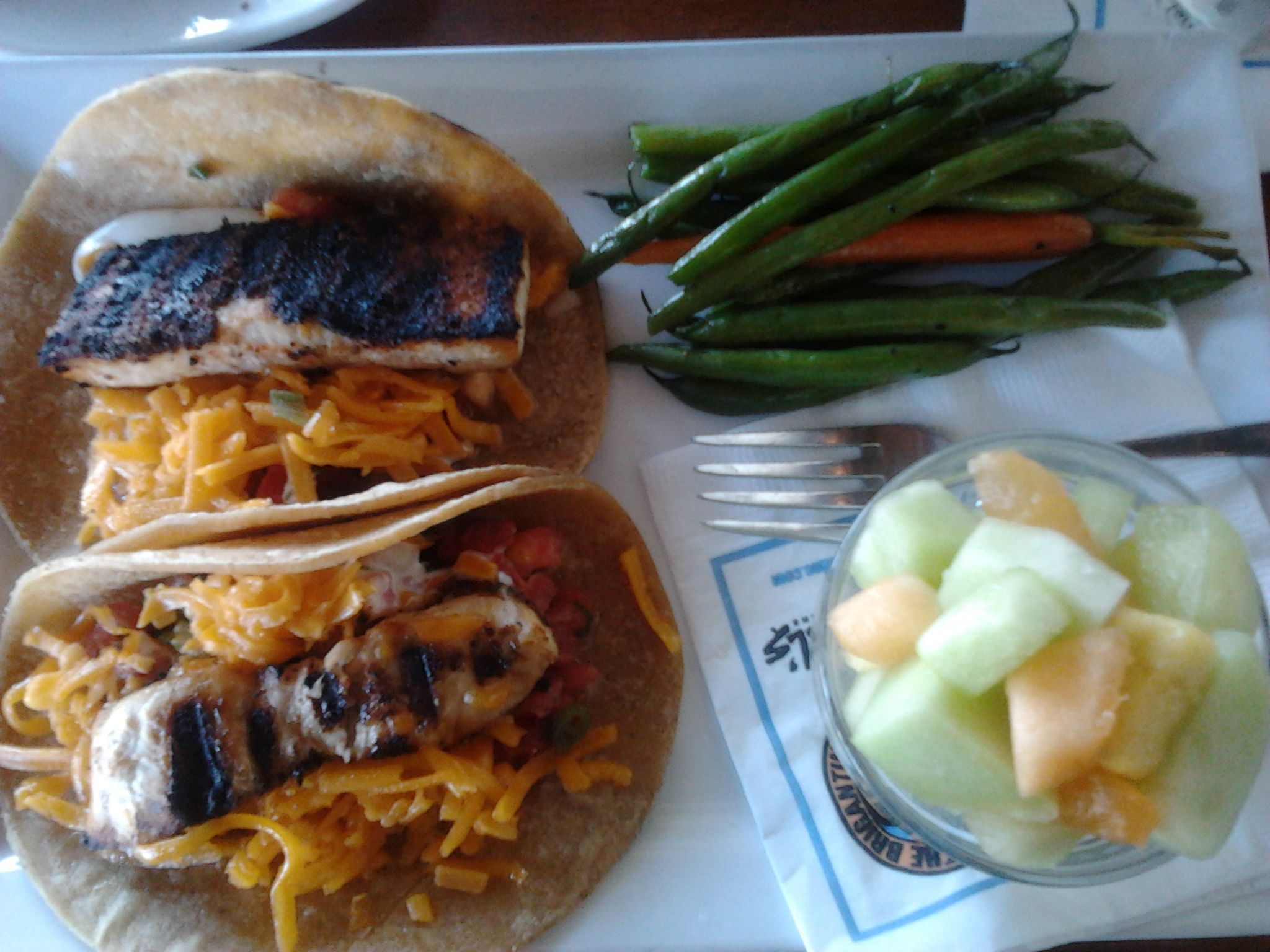 Fish Tacos! The Brigantine. Del Mar, California. HalYes