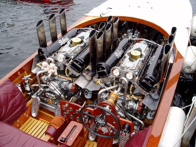 Twin Packard Marine Engines Engineered For Performance In This