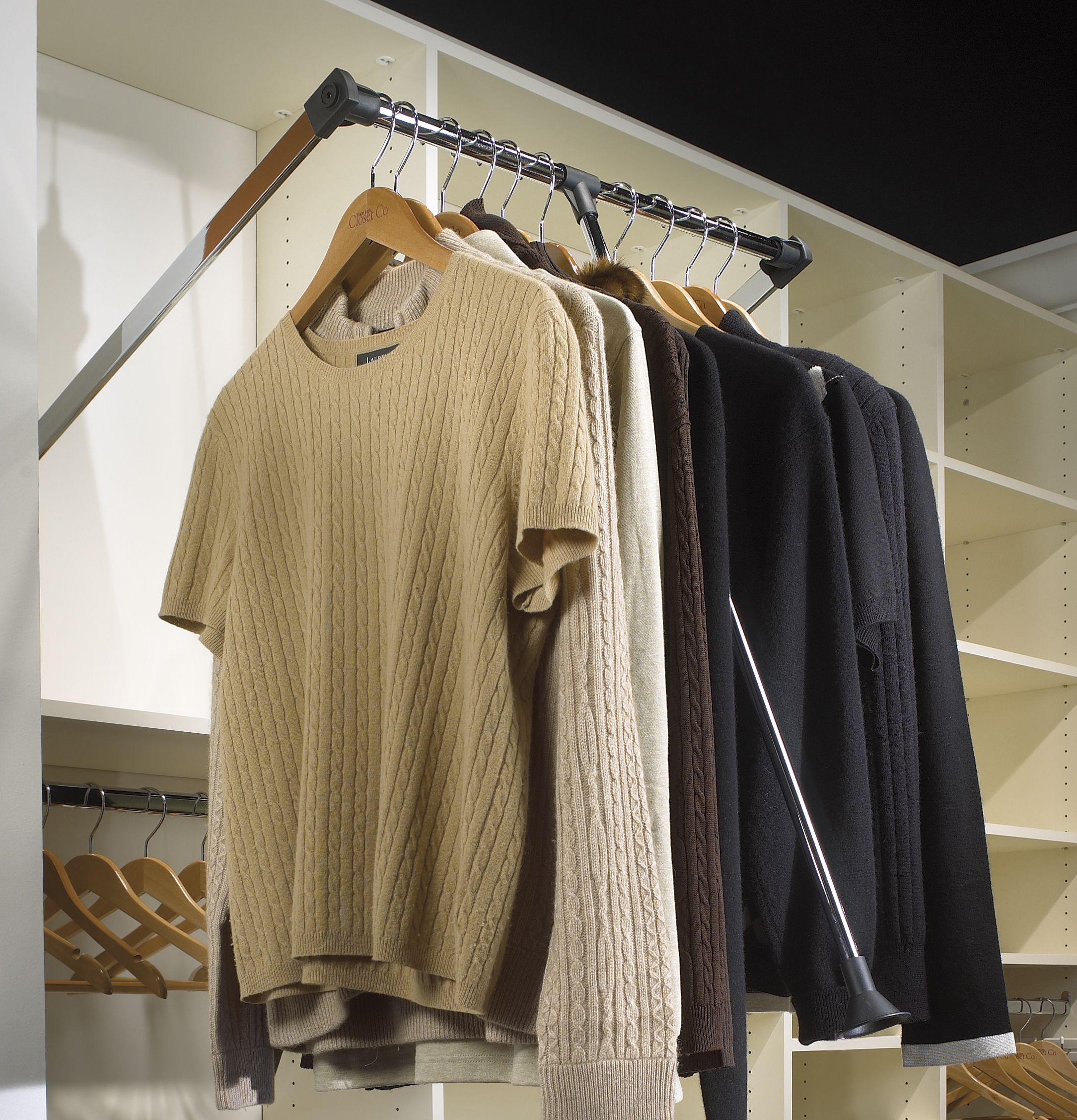 Saint Louis Closet Co. Pull Down Rods Make Even The Tallest Ceilings  Useable.