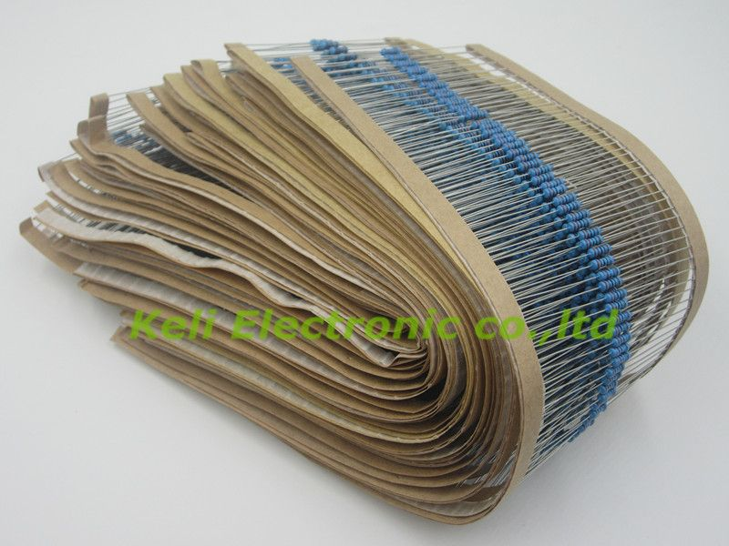 Freeshipping 21 value 2100pcs  1/4W resistor package 1% 21 kinds of commonly resistance resistor kit