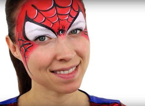 maquillage spiderman tutoriel nadav maquillage. Black Bedroom Furniture Sets. Home Design Ideas