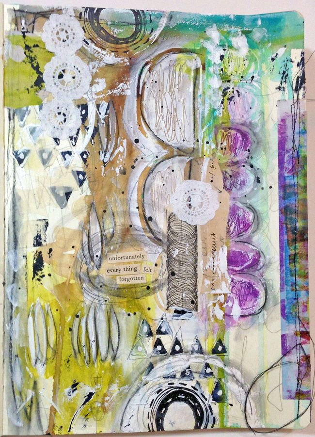 May 30 - Textured paper - I'm so not feeling it! - Art Journal Page by Roben-Marie Smith