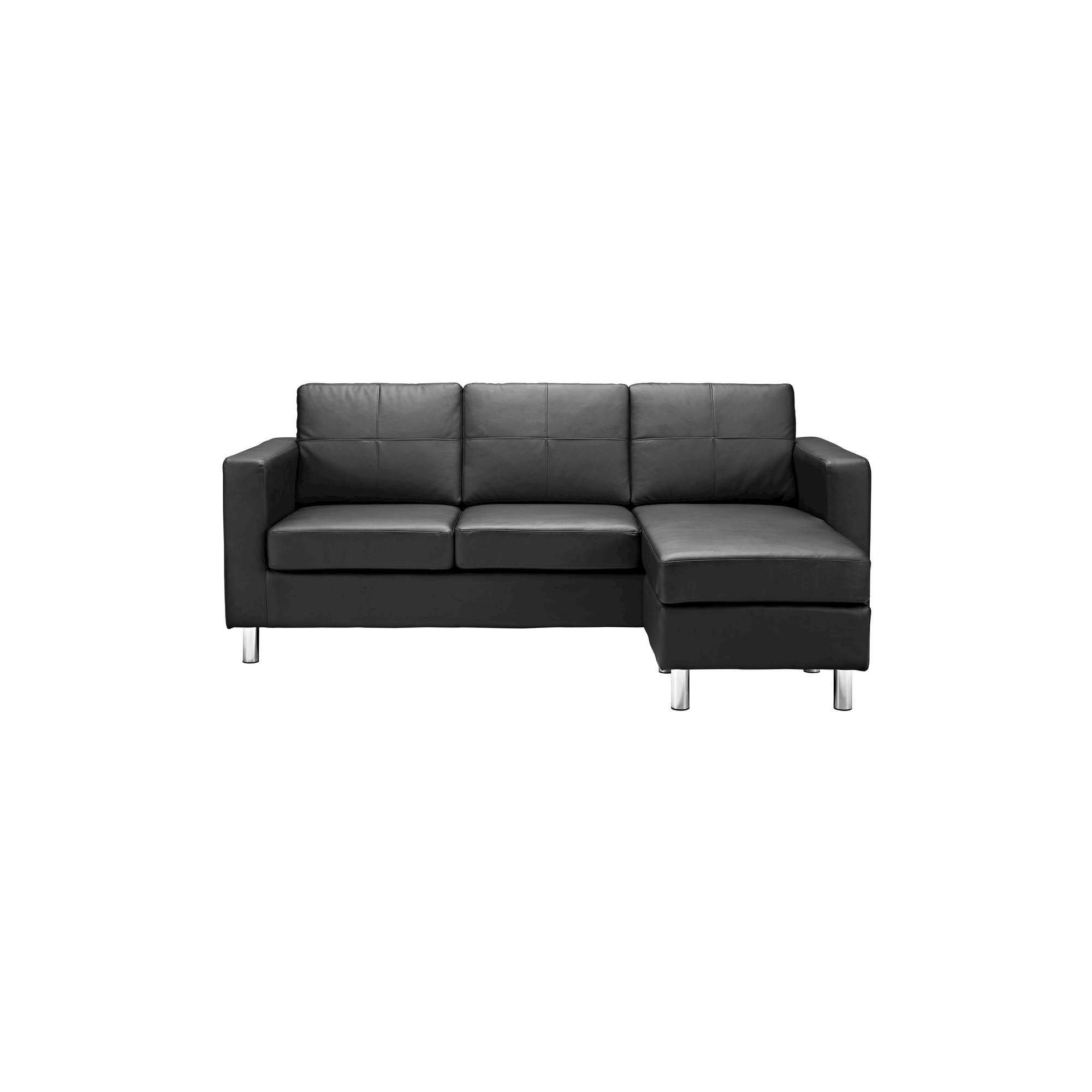 Small Es Configurable Sectional Sofa Black Dorel Living