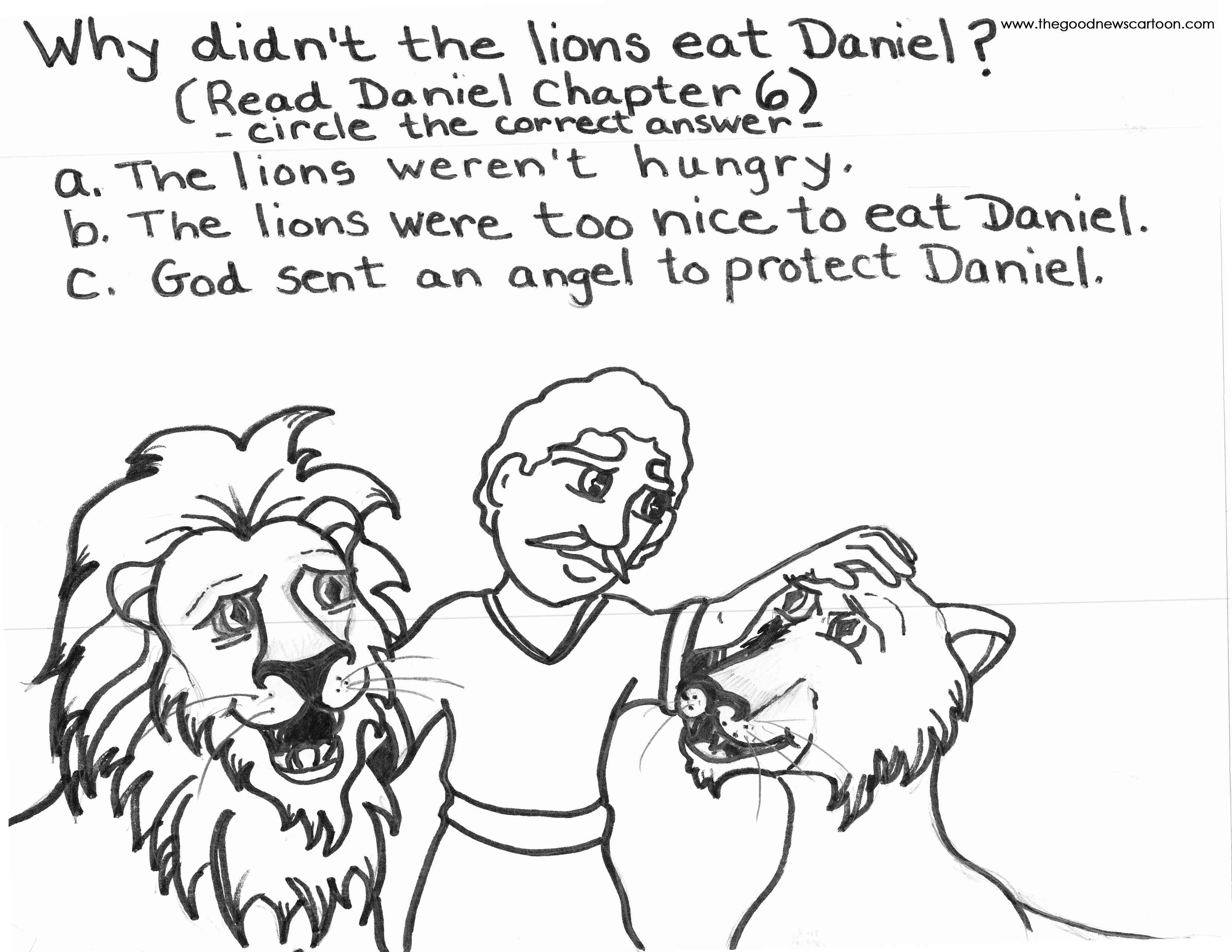 daniel and the lions den coloring page | Page 33 – Daniel in the ...