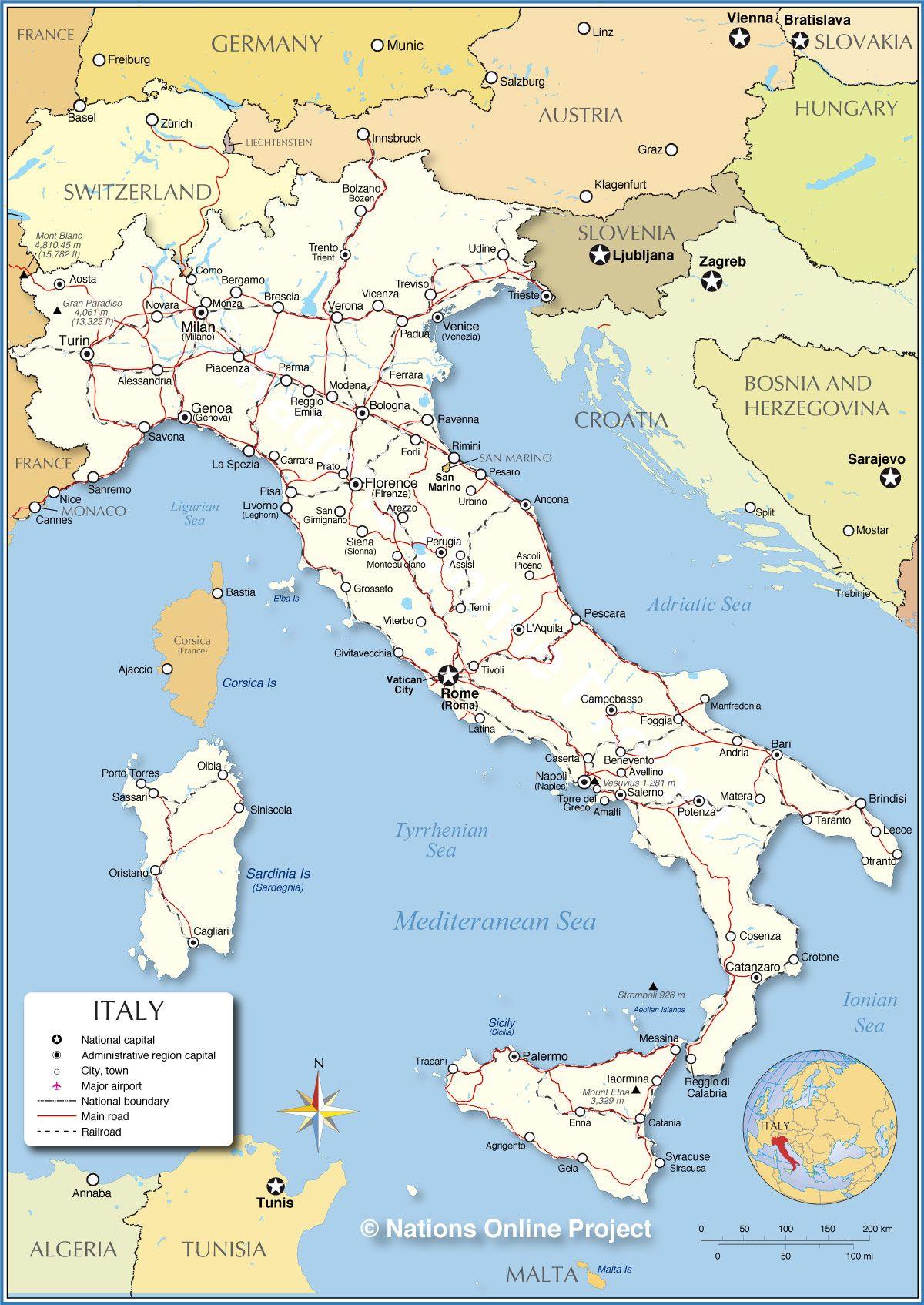 Map Of Italy Geografía Pinterest Italy And Italia - Italy map