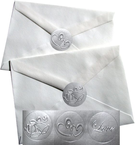 Wedding Envelope Silver Foil Seals Just An Idea Cuz Licking All The Envelopes Will Not