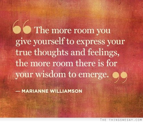 Expressing Quotes: The More Room You Give Yourself To Express Your True