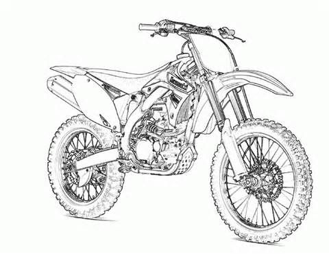 Free Printable Motorcycle Coloring Pages For Kids Bike Drawing