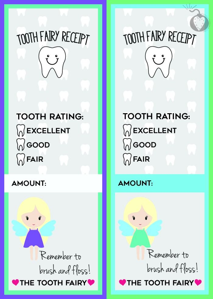 Free Printable Tooth Fairy Receipts Tooth fairy receipt, Tooth - free receipts