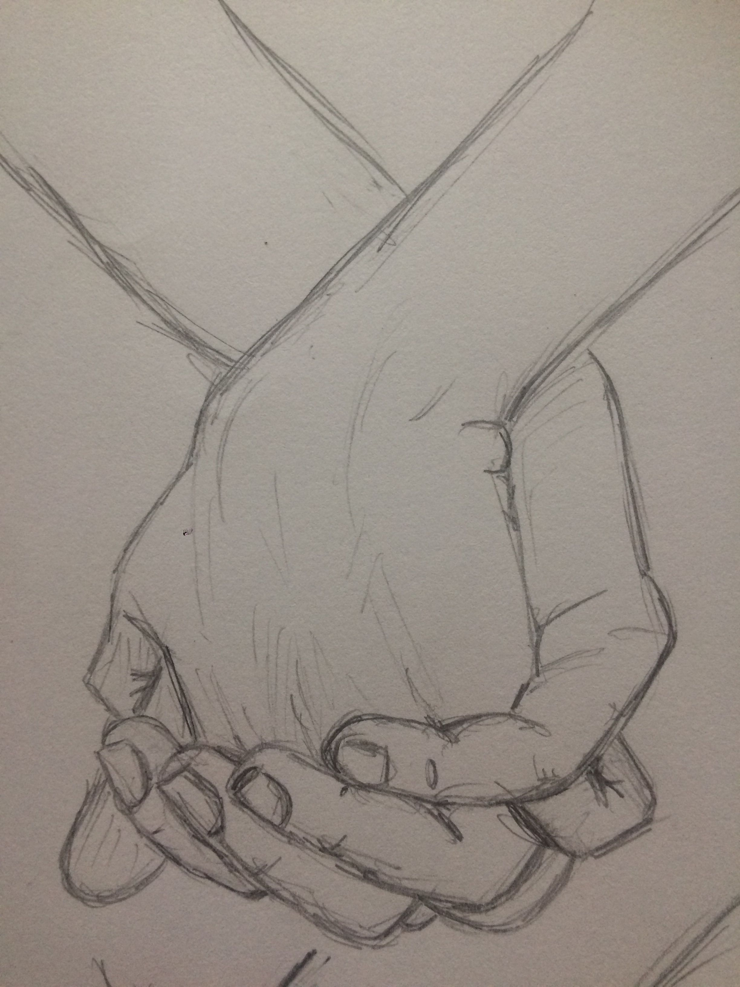Practice sketch holding hands 2 pinkishcoconut