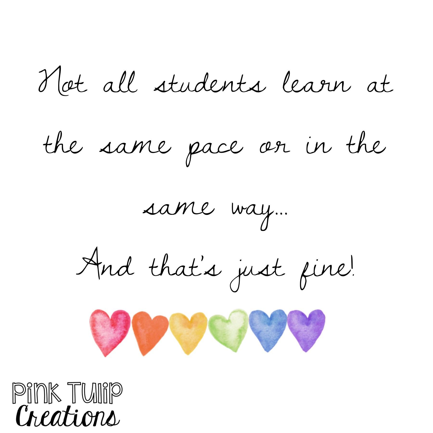 Not All Students Learn At The Same Pace Or In The Same Way