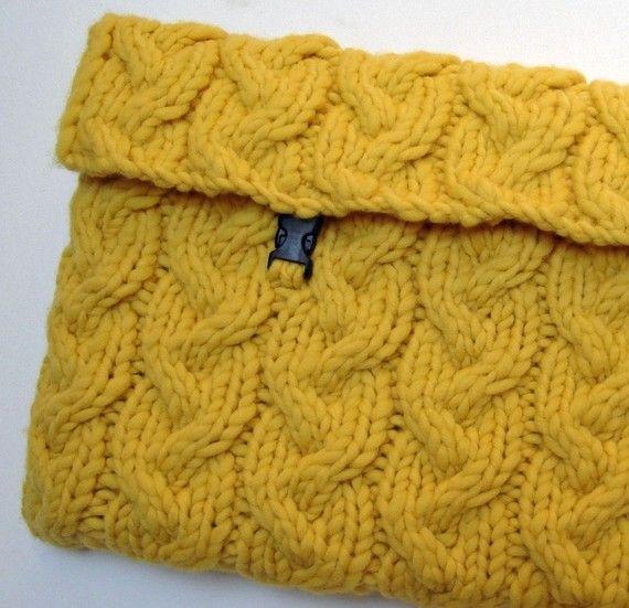 Knitting pattern Sunny Laptop Sleeve by HandmadeHandsome on Etsy ...