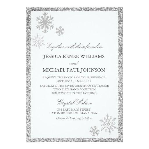 Winter Wedding Invitations Cheap: Winter Wonderland Wedding Invitations