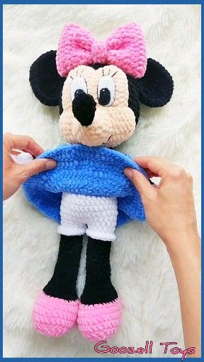 Amigurumi Minnie Mouse Crochet pattern, Disney crochet pattern, Amigurumi Knitting Toy PDF pattern,  #stuffedtoyspatterns