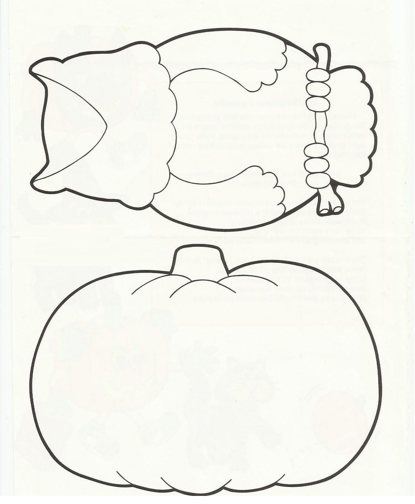 Printable Pumpkin Coloring Pages Fill In The Jack O