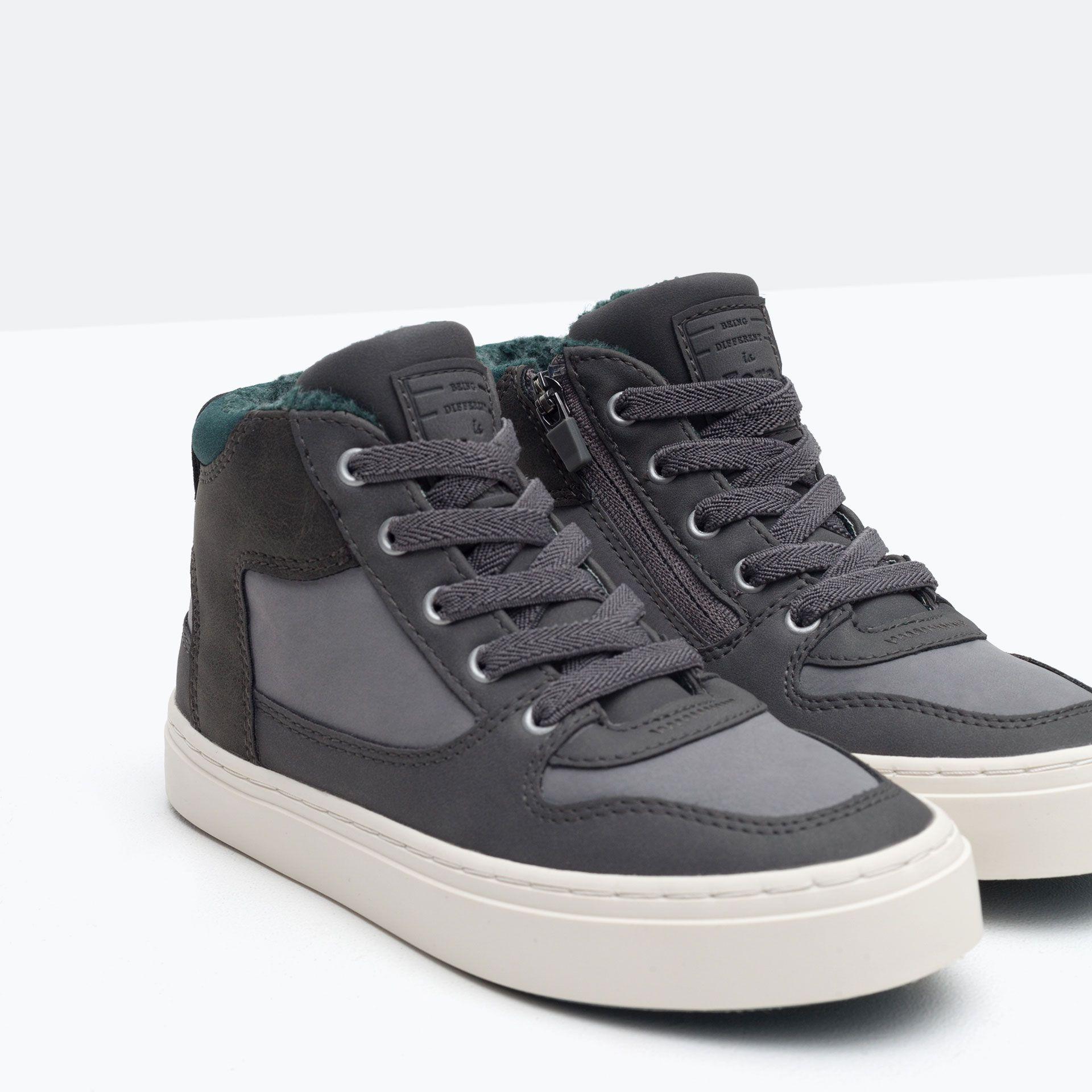 5b16a6fd Zara Kids Niños Zapatos Zapatos Para Basket Shoes Urbana rardxwIqA
