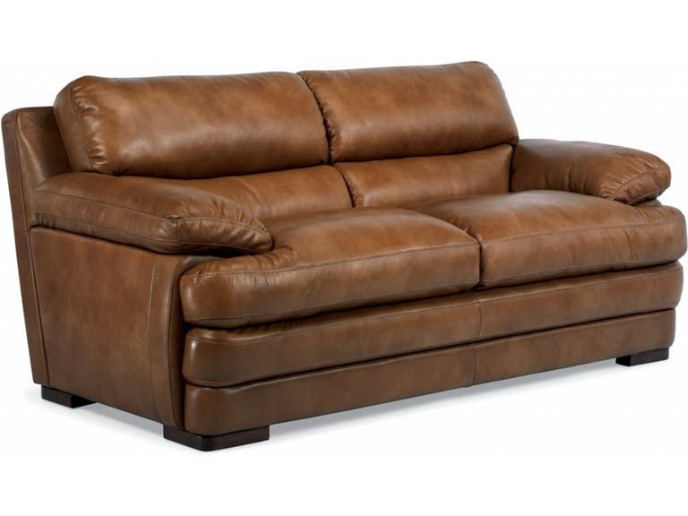 flexsteel leather two cushion sofa without nailhead trim 1127 30 rh pinterest com