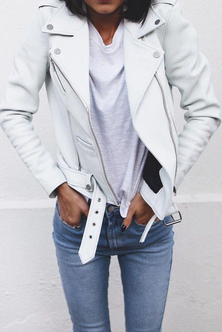 Mode Veste Et CuirIdées En Perfecto De BlancTenue fb6vYgy7