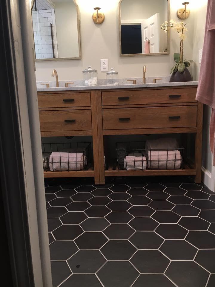 bathroom interior design hexagon tile