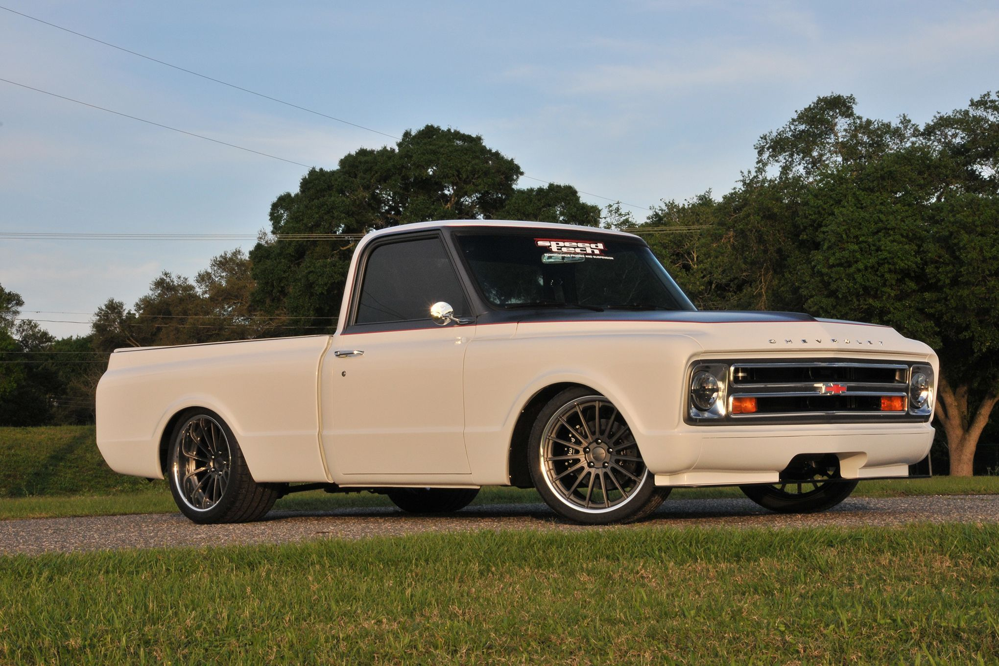 This gorgeous 68 chevy c10 truck by tom argue design is powered by
