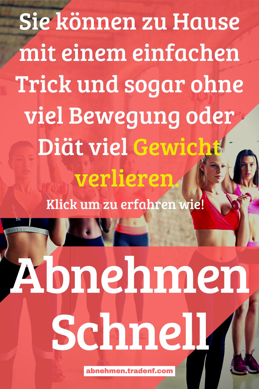 Tricks, um in kurzer Zeit viel Gewicht zu verlieren