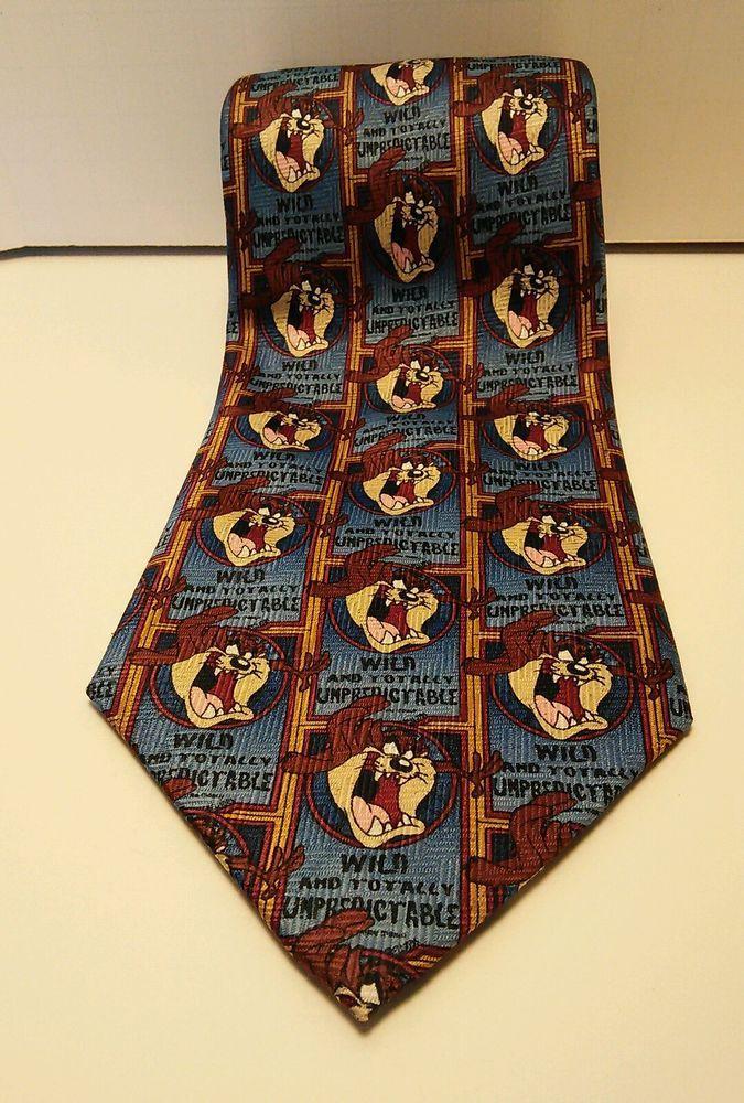 Looney Tunes Men's Tie Taz 1999 in Clothing, Shoes & Accessories, Men's Accessories, Ties | eBay