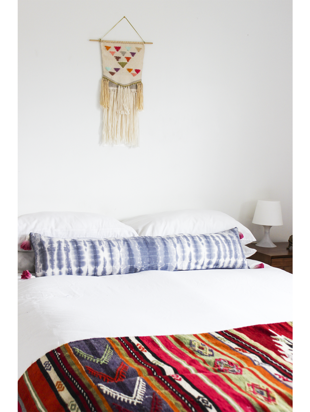 indigo extra long pillow pink tassels for the home pinterest