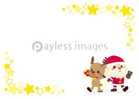 可愛いサンタクロースとトナカイのグリーティングカードの写真 イラスト素材 Xf6915344416 ペイレスイメージズ イラスト グリーティングカード サンタクロース トナカイ
