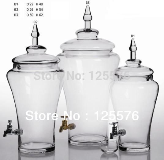 Free Shipping Glass Jar With Tap Capacity 6 Litre Wine Brewing Jar Juice Device For Home Bar Party In Storage Bottles Jars Glass Jars Bottles And Jars Glass