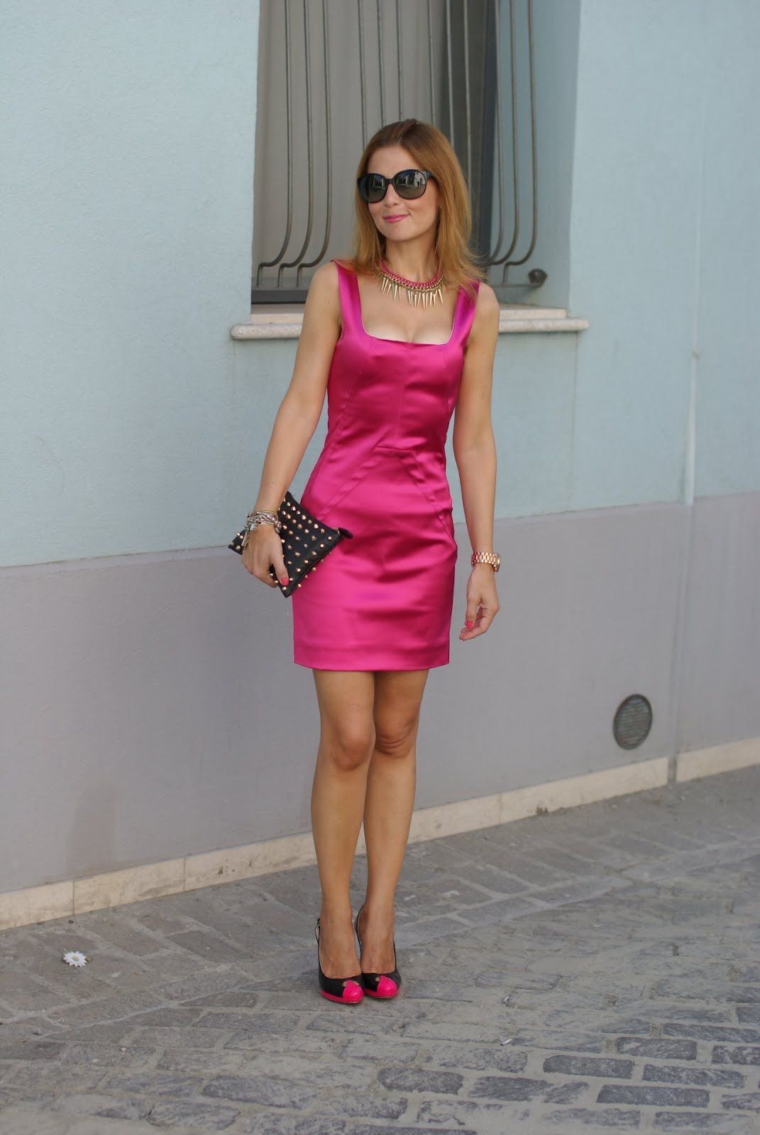 Dolce e Gabbana fuchsia dress