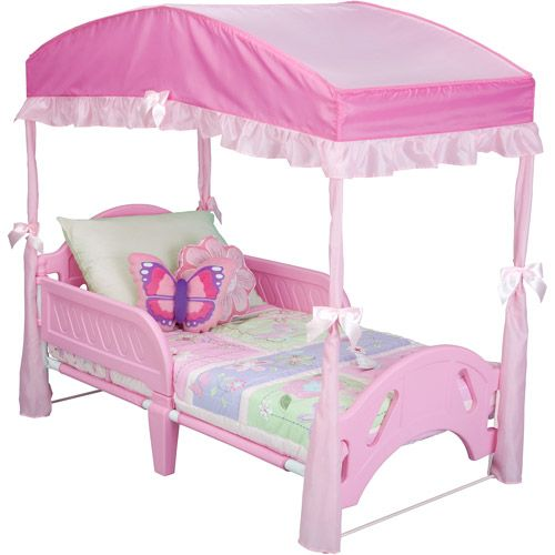 Delta Toddler Bed Canopy Pink Walmart Com In 2020 Toddler Bed