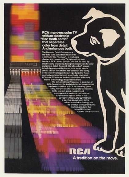 #ThrowbackThursday: A psychedelic look at RCA's vivid #color #TV. #TBT #throwback #80s #eighties