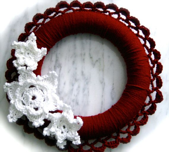 Photo of Items similar to Snow Fairy Crochet Wreath, Winter Snowflake Wreath on Etsy
