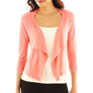 coral waterfall cardigan | Capsule Wardrobe Beginings | Pinterest ...
