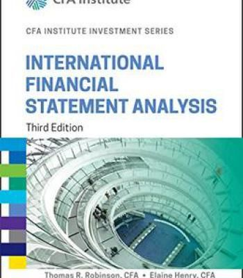 International Financial Statement Analysis 3rd Edition Pdf