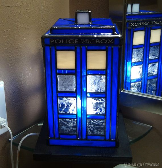 Tardis table lamp stained glass doctor who by midiancraftworks tardis table lamp stained glass doctor who by midiancraftworks mozeypictures Gallery