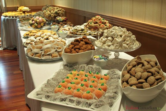 italian cookie table for a bridal shower or baby shower or wedding wwwanitaliancanadianlife