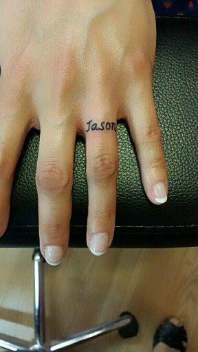 Wedding Ring Tattoo Name Tattoo Wedding Band Wedding