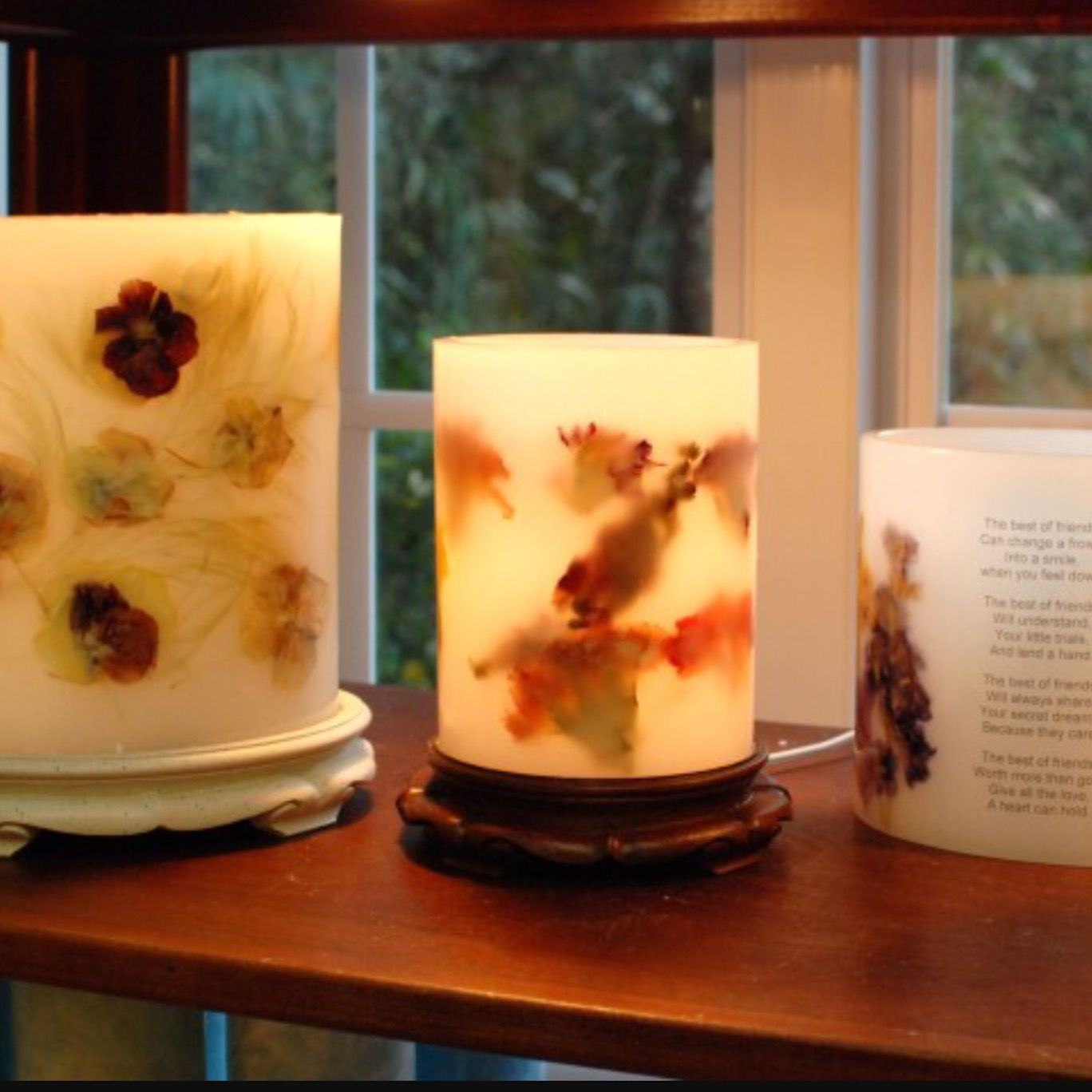 One Of Our Infamous Flower Infused Candles Made Of Organic
