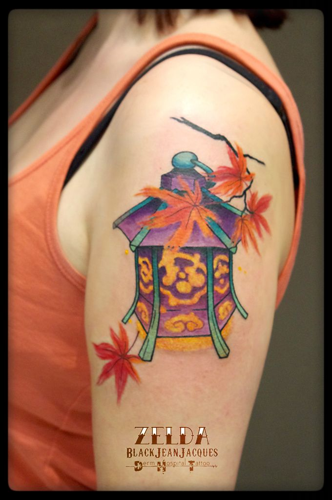 #japanese #lantern #fall #tattoo done by # ...