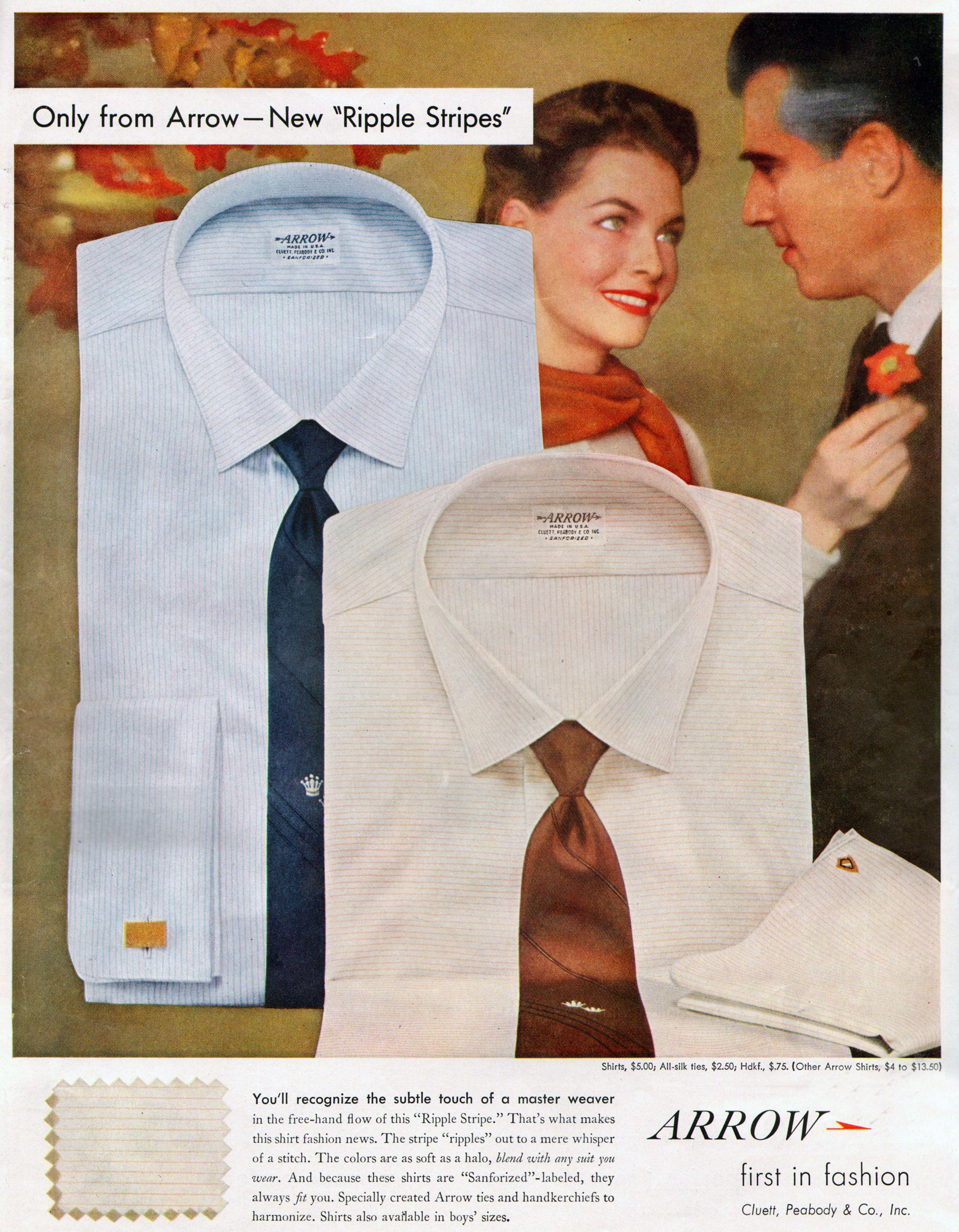 arrow shirts 1957