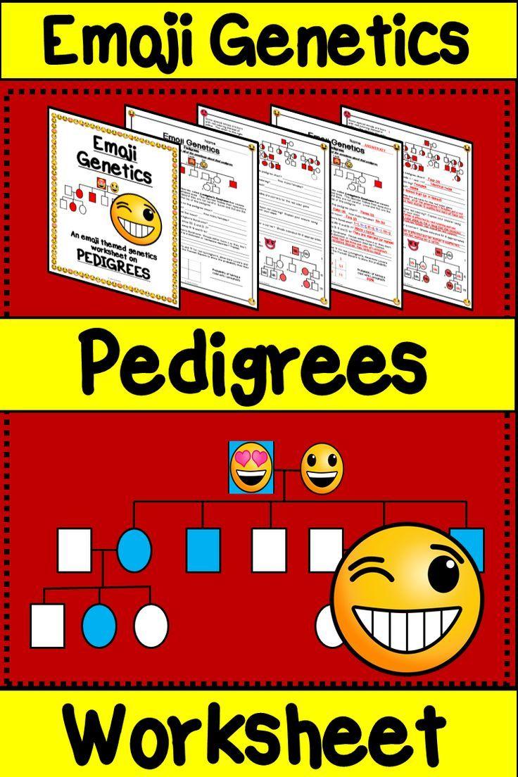 Emoji Pedigree Worksheet | Teaching, Middle school science ...