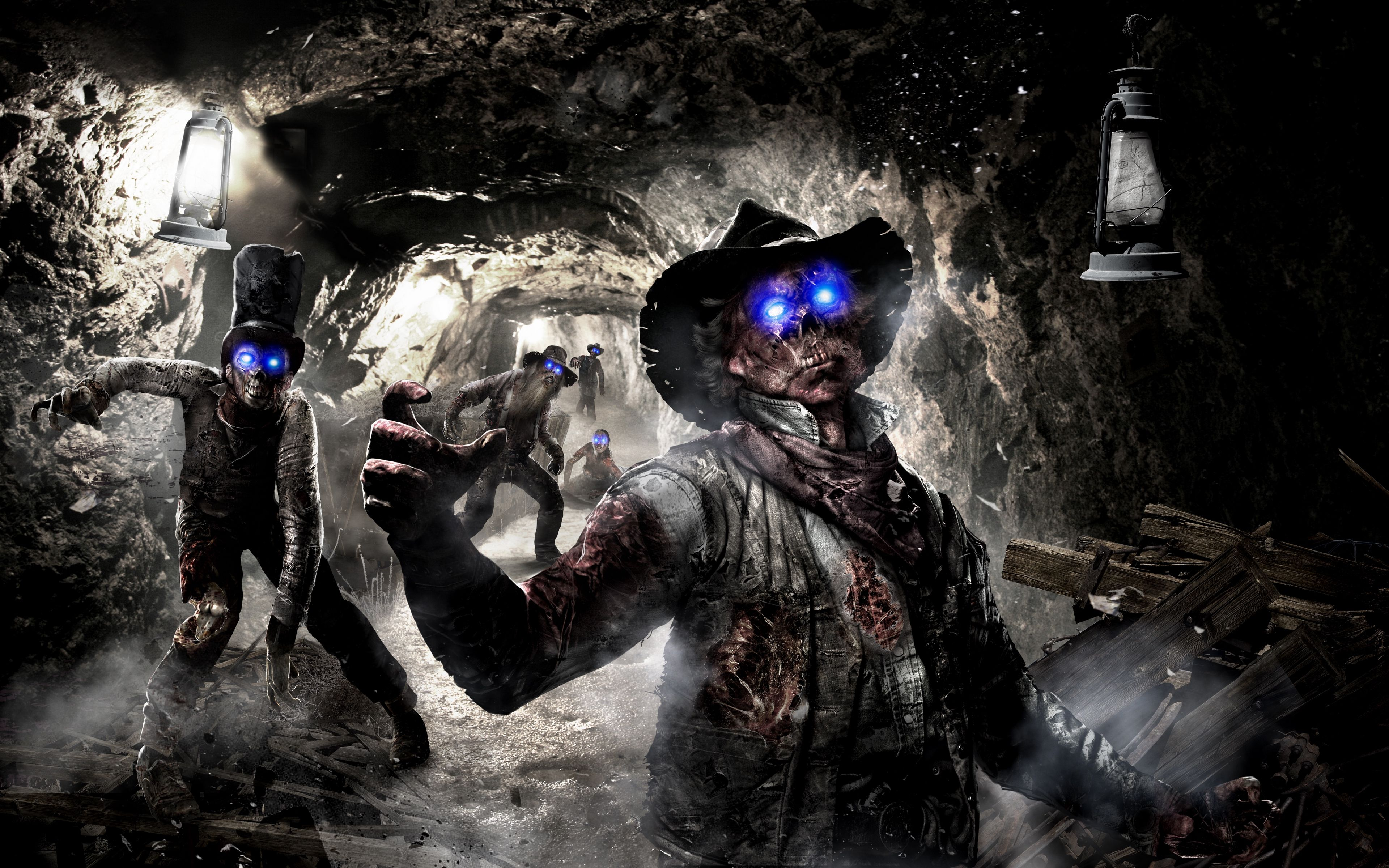 3840x2400 Wallpaper Call Of Duty Black Ops 2 Art Zombie
