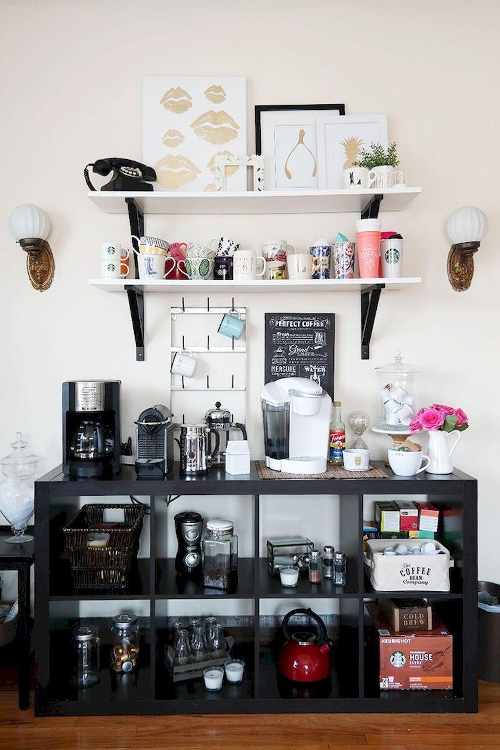 37 DIY Home Coffee Bar Ideas for Coffee Addict | Coffee bar ideas ...