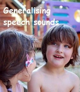 Ideas to help your child generalise speech sounds