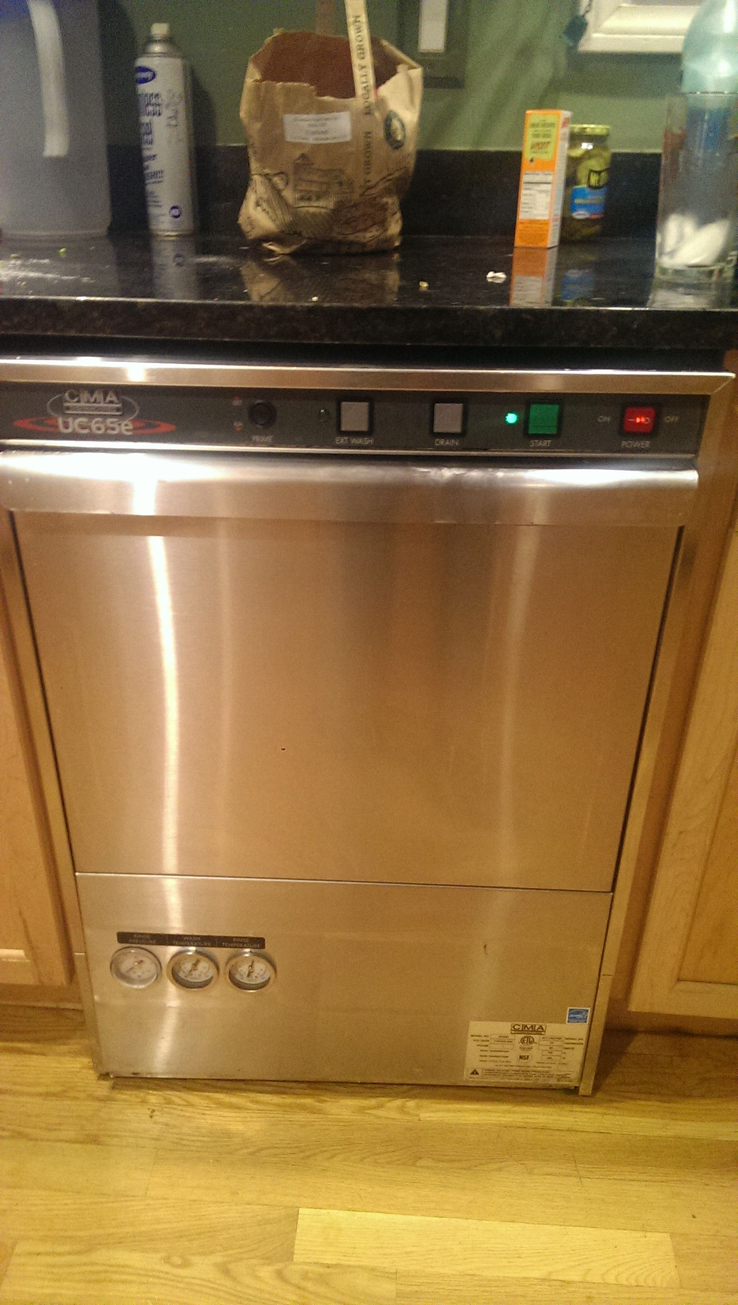 Uncategorized Kitchen Appliances Seconds installed a commercial dishwasher dishes done in 90 seconds seconds