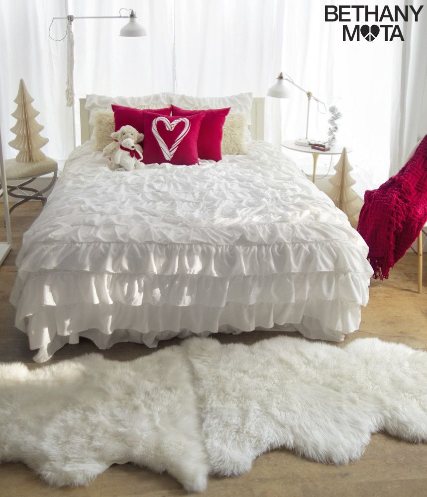 Bethany Mota Bedroom Decor Line ruffle duvet bedding set from aeropostale | aeropostale | bethany